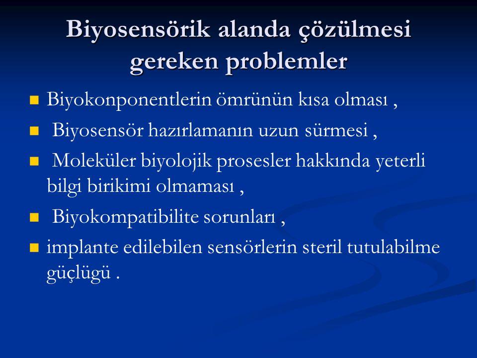 Biyosensörik alanda çözülmesi gereken problemler