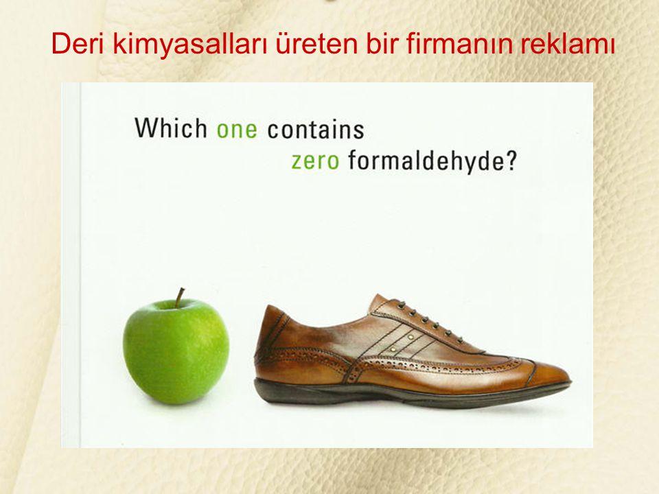 Deri kimyasalları üreten bir firmanın reklamı