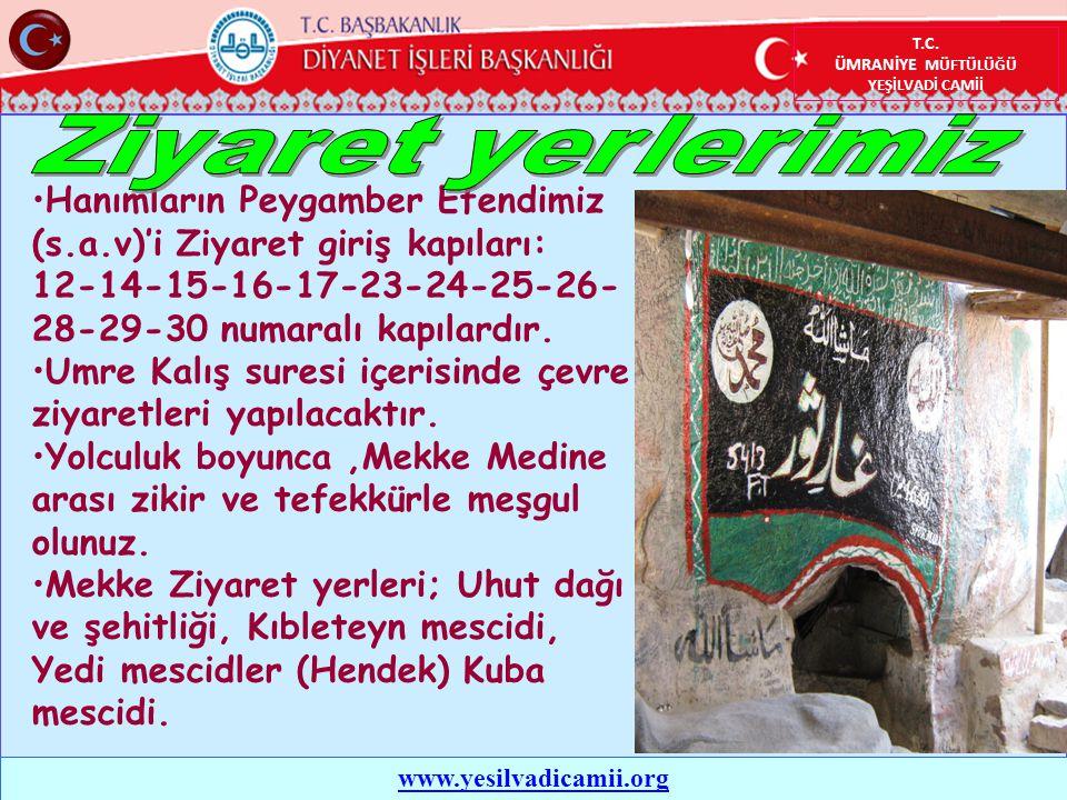 Hanımların Peygamber Efendimiz (s.a.v)'i Ziyaret giriş kapıları: