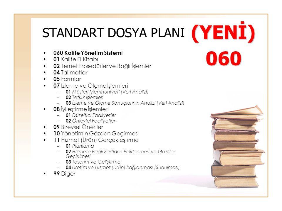 (YENİ) 060 STANDART DOSYA PLANI 060 Kalite Yönetim Sistemi