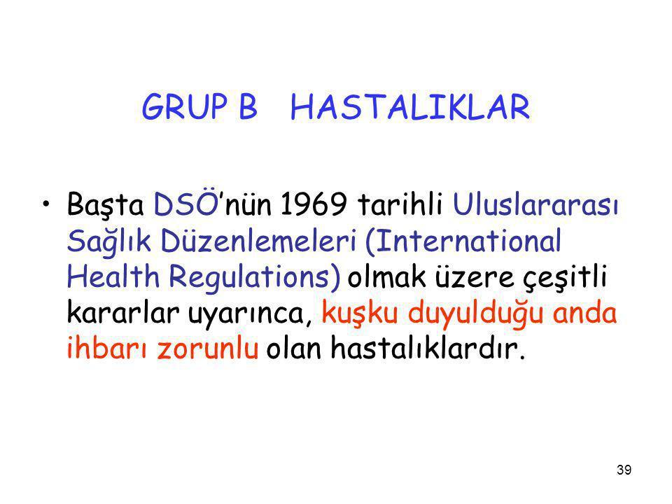 GRUP B HASTALIKLAR