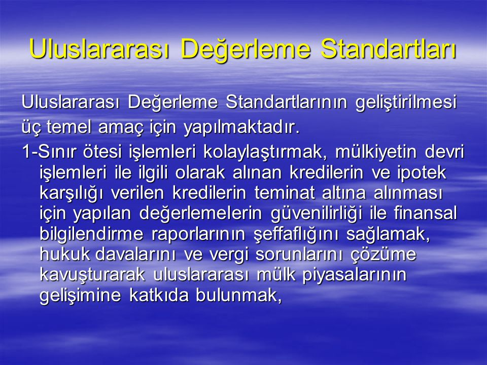 Uluslararası Değerleme Standartları