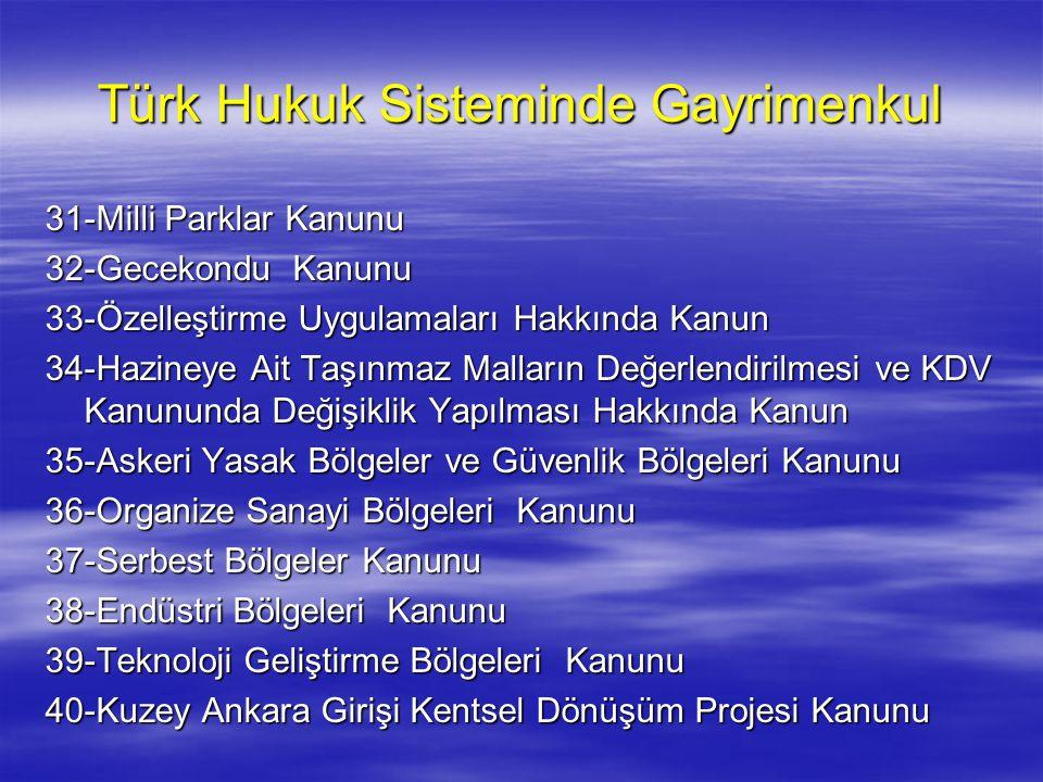 Türk Hukuk Sisteminde Gayrimenkul
