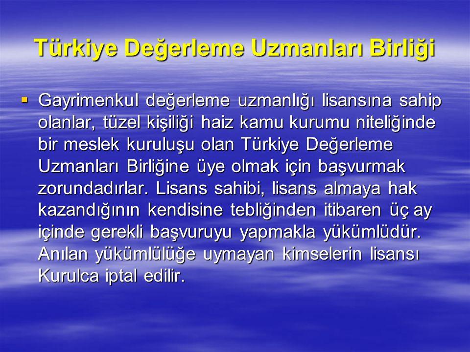 Türkiye Değerleme Uzmanları Birliği