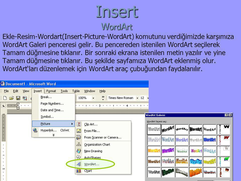 Insert WordArt