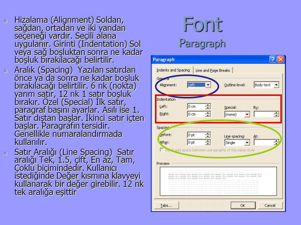 Font Paragraph