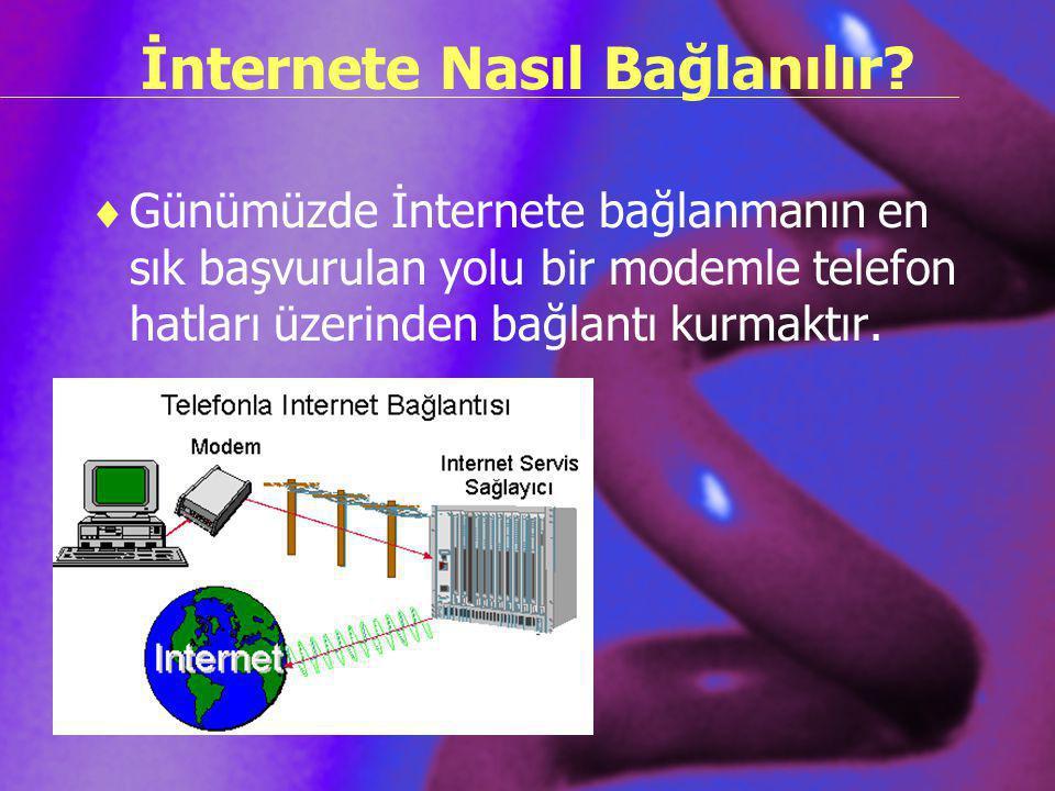 İnternete Nasıl Bağlanılır