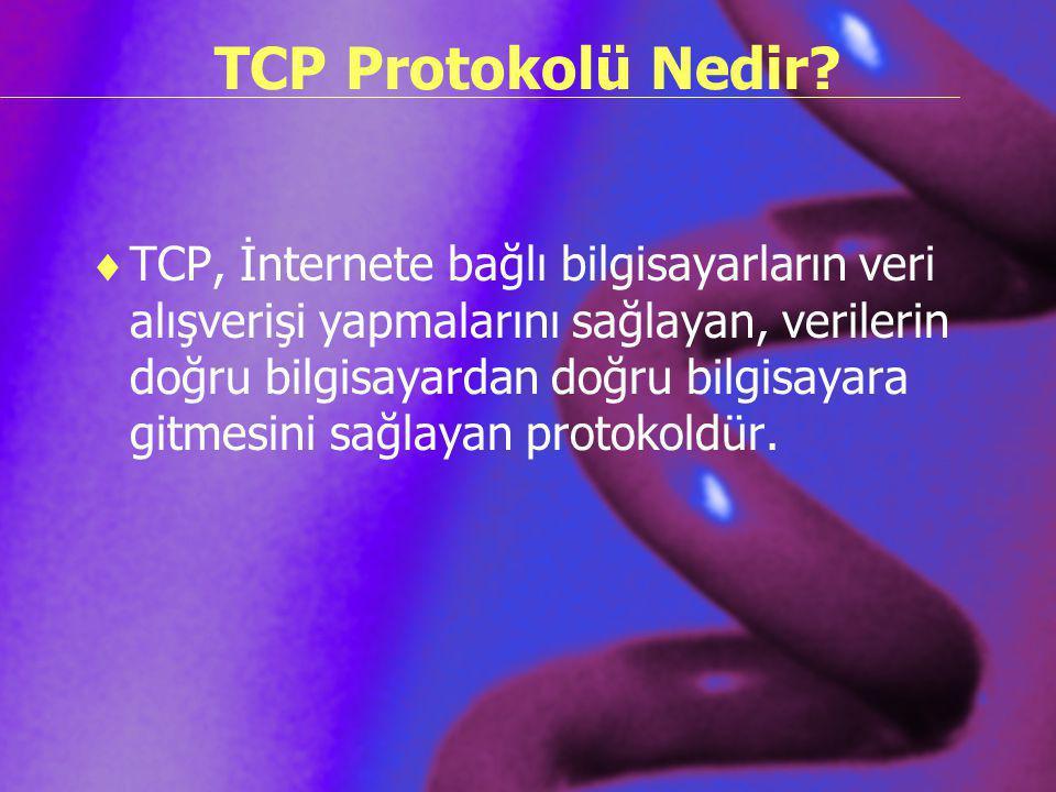 TCP Protokolü Nedir