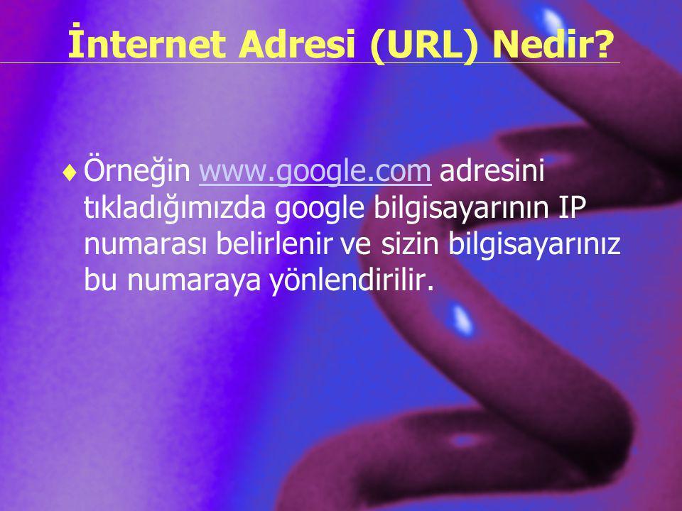 İnternet Adresi (URL) Nedir
