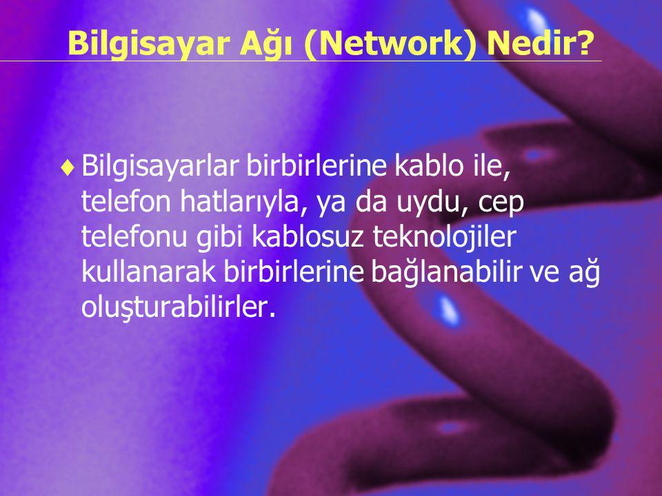 Bilgisayar Ağı (Network) Nedir
