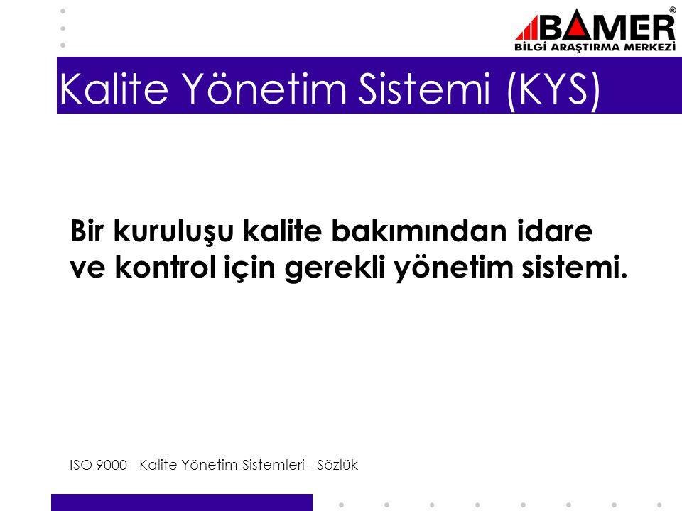Kalite Yönetim Sistemi (KYS)