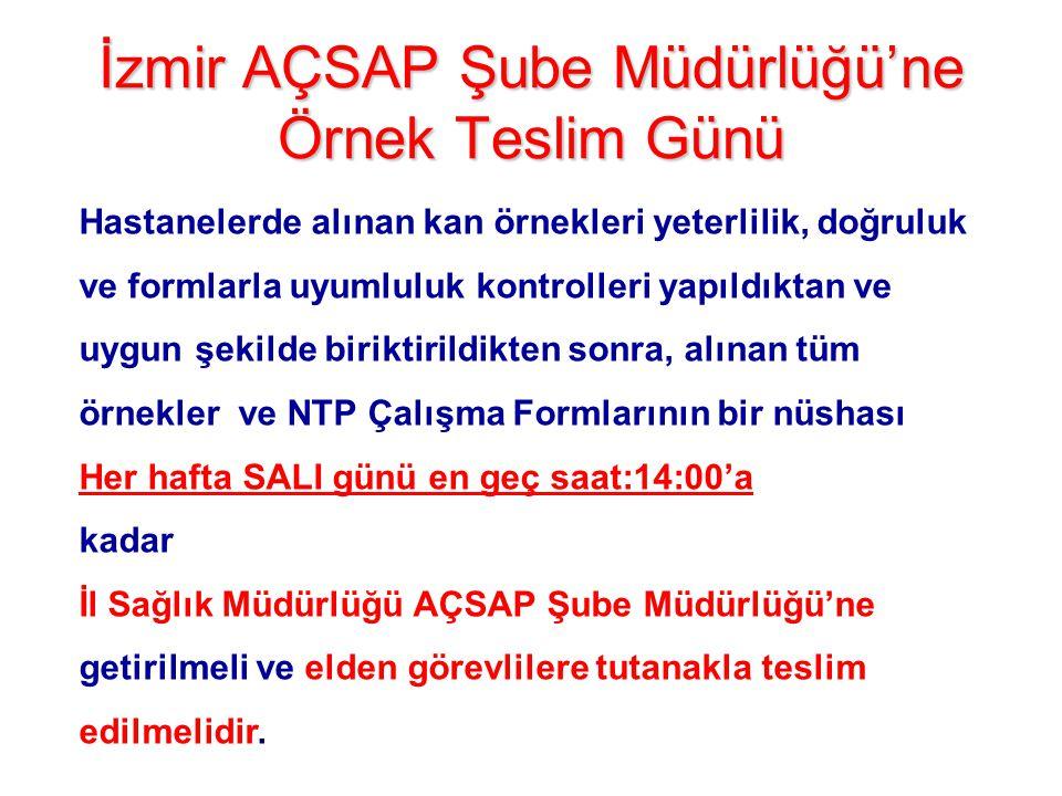 İzmir AÇSAP Şube Müdürlüğü'ne Örnek Teslim Günü