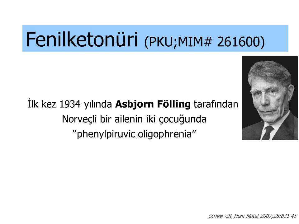 Fenilketonüri (PKU;MIM# 261600)