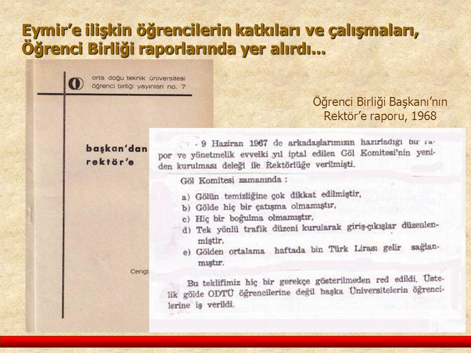 Öğrenci Birliği Başkanı'nın Rektör'e raporu, 1968