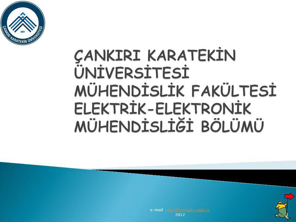 e-mail : eem@karatekin.edu.tr 2012