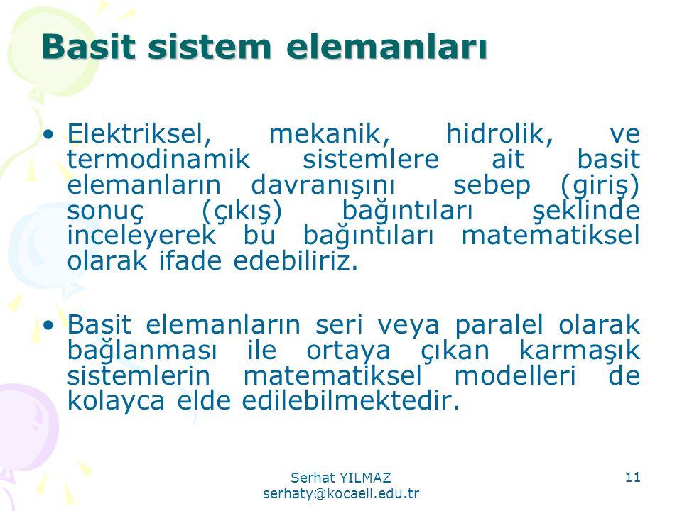 Basit sistem elemanları