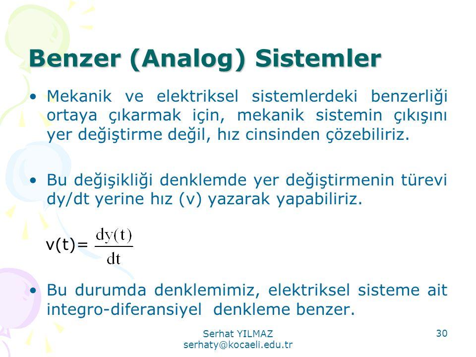 Benzer (Analog) Sistemler