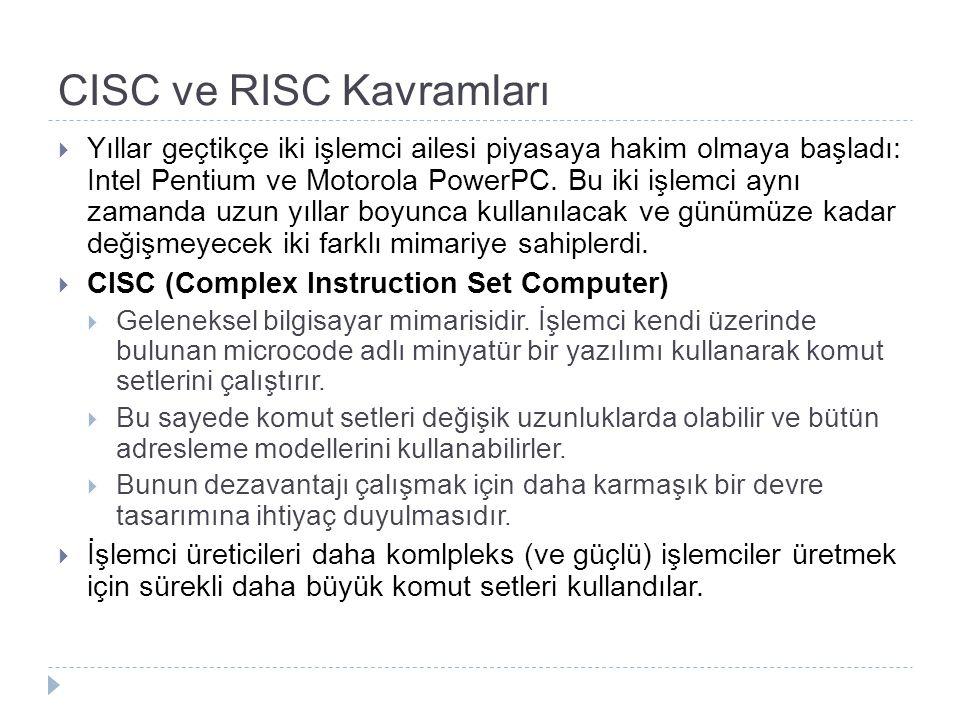 CISC ve RISC Kavramları