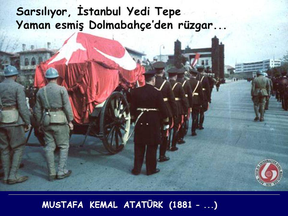 Sarsılıyor, İstanbul Yedi Tepe Yaman esmiş Dolmabahçe'den rüzgar...
