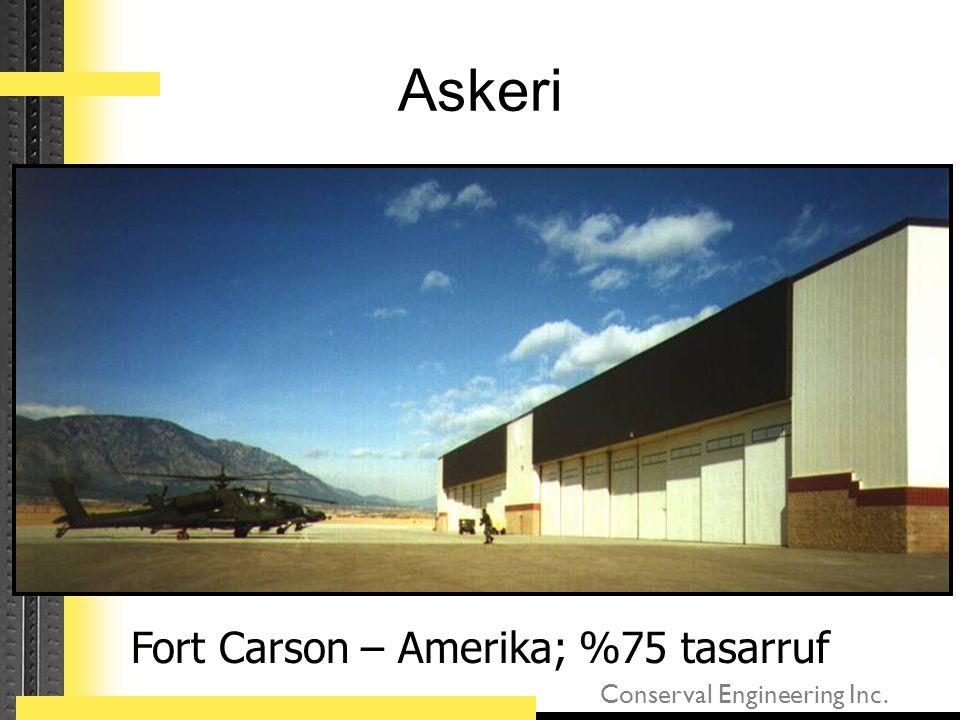 Fort Carson – Amerika; %75 tasarruf
