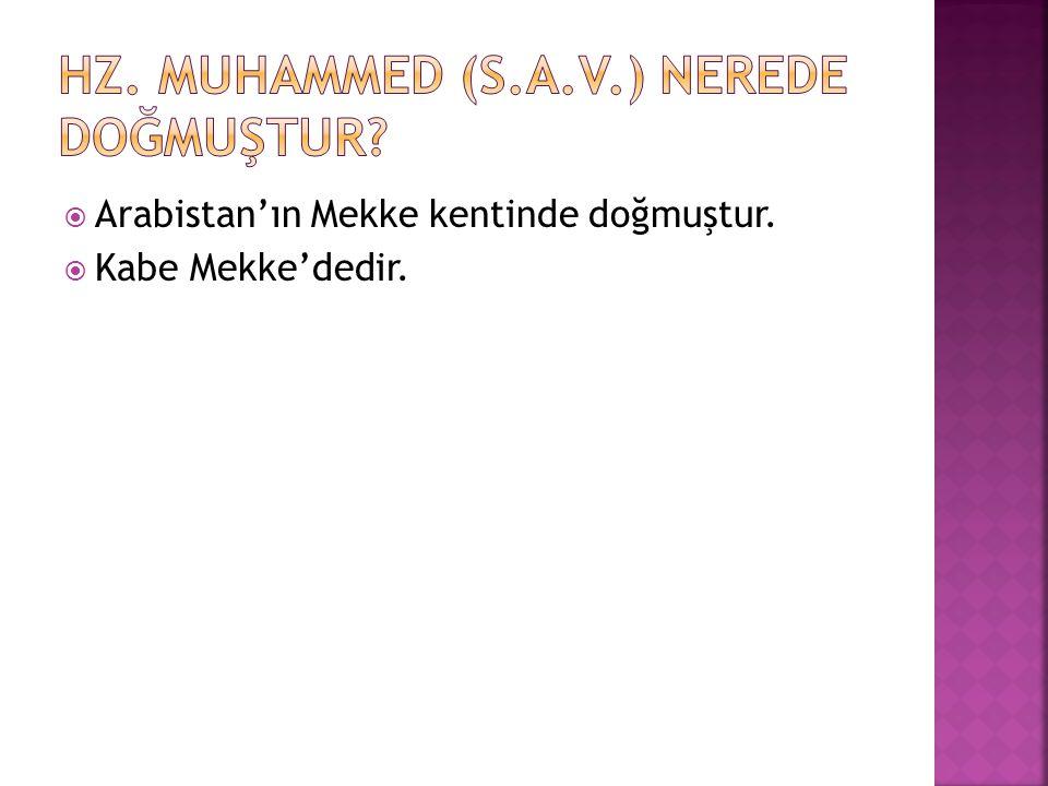 Hz. Muhammed (s.a.v.) nerede doğmuştur