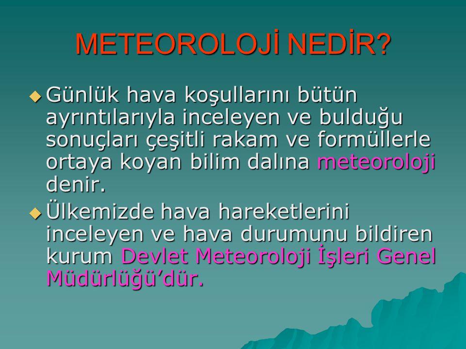 METEOROLOJİ NEDİR
