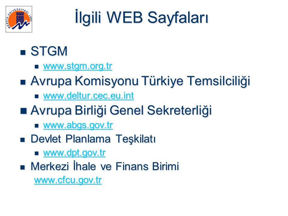 İlgili WEB Sayfaları STGM Avrupa Komisyonu Türkiye Temsilciliği