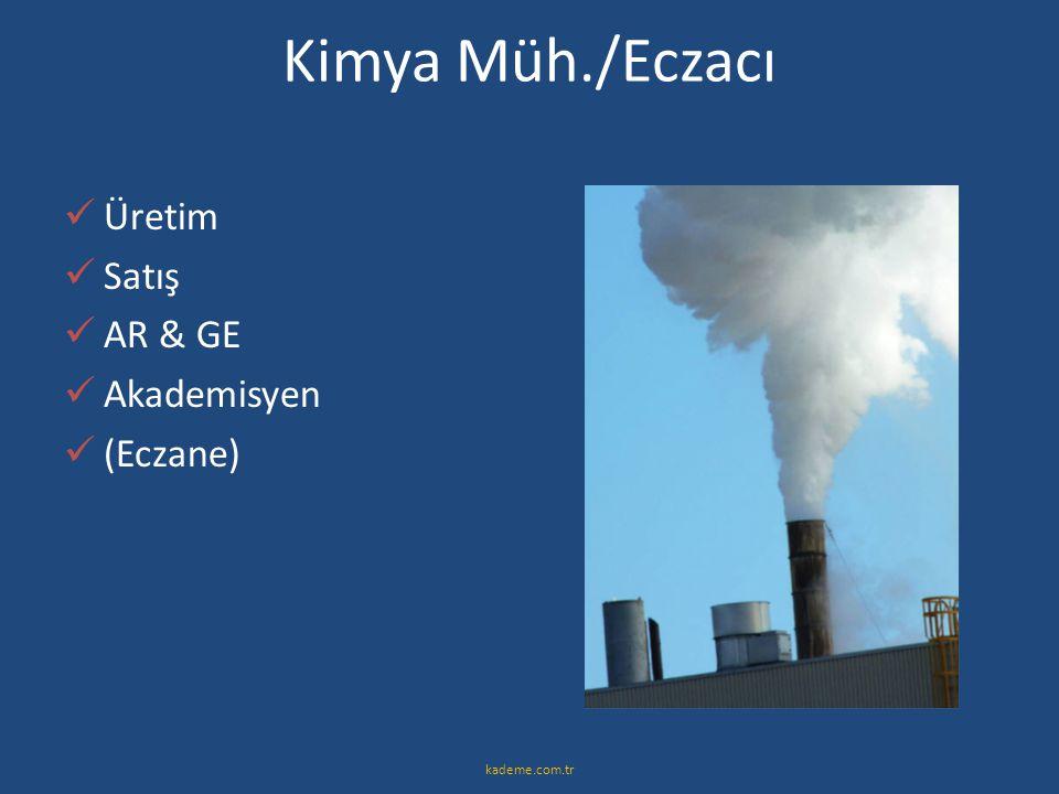 Kimya Müh./Eczacı Üretim Satış AR & GE Akademisyen (Eczane)