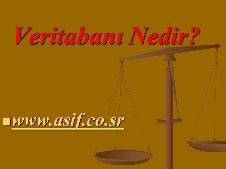 Veritabanı Nedir www.asif.co.sr