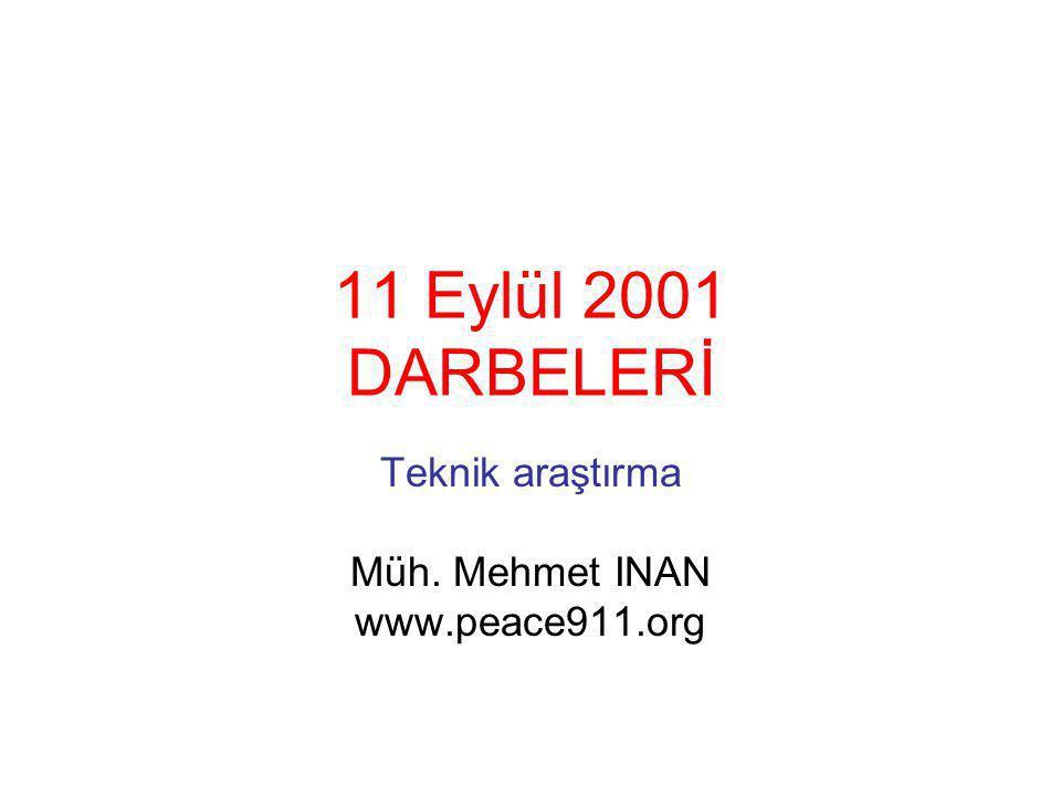 Teknik araştırma Müh. Mehmet INAN www.peace911.org
