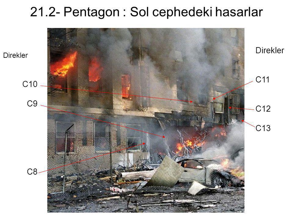 21.2- Pentagon : Sol cephedeki hasarlar
