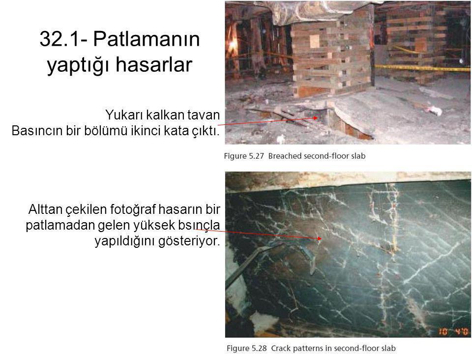 32.1- Patlamanın yaptığı hasarlar