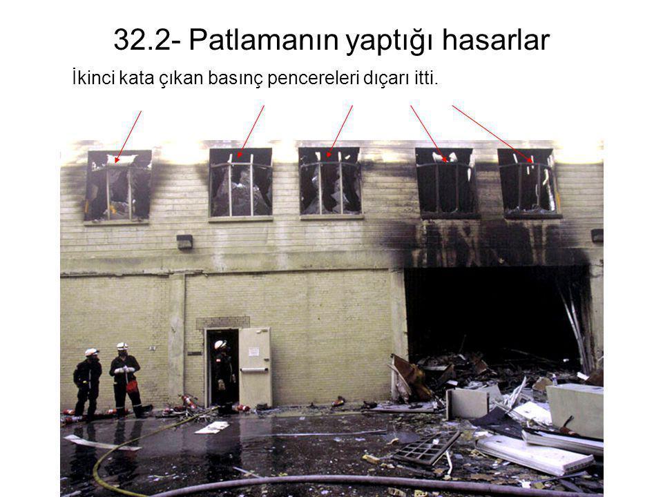 32.2- Patlamanın yaptığı hasarlar