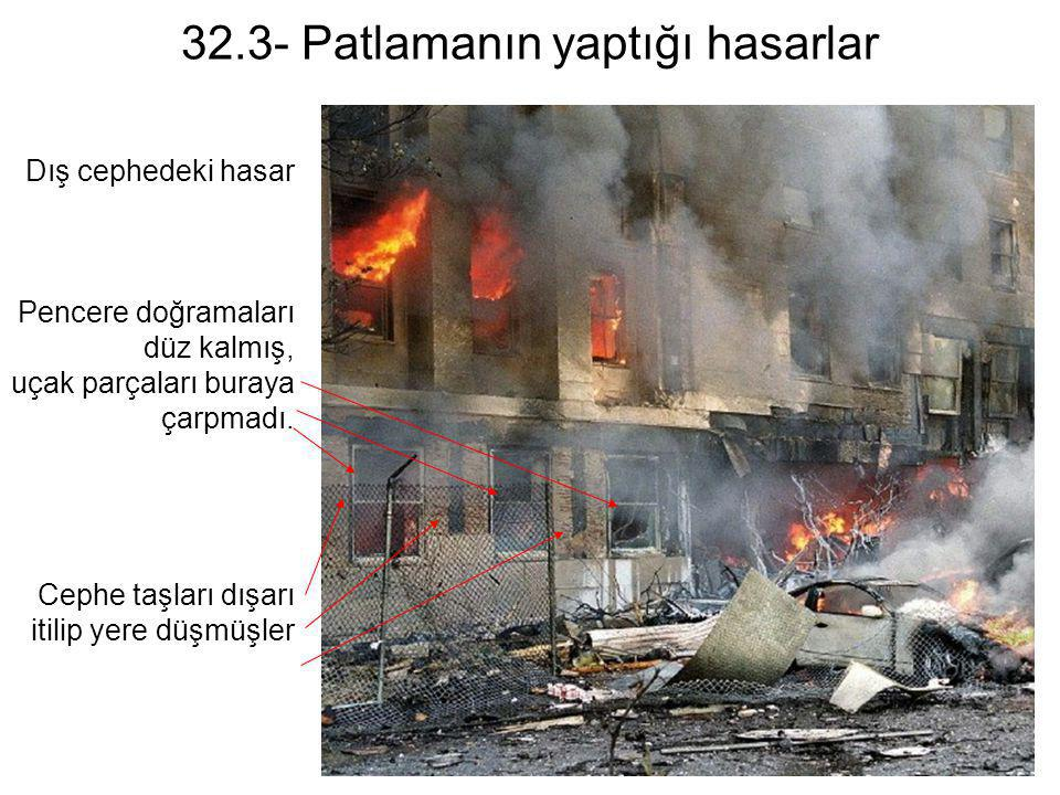 32.3- Patlamanın yaptığı hasarlar