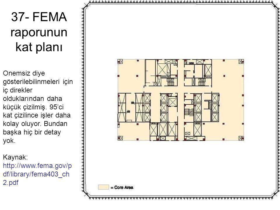 37- FEMA raporunun kat planı