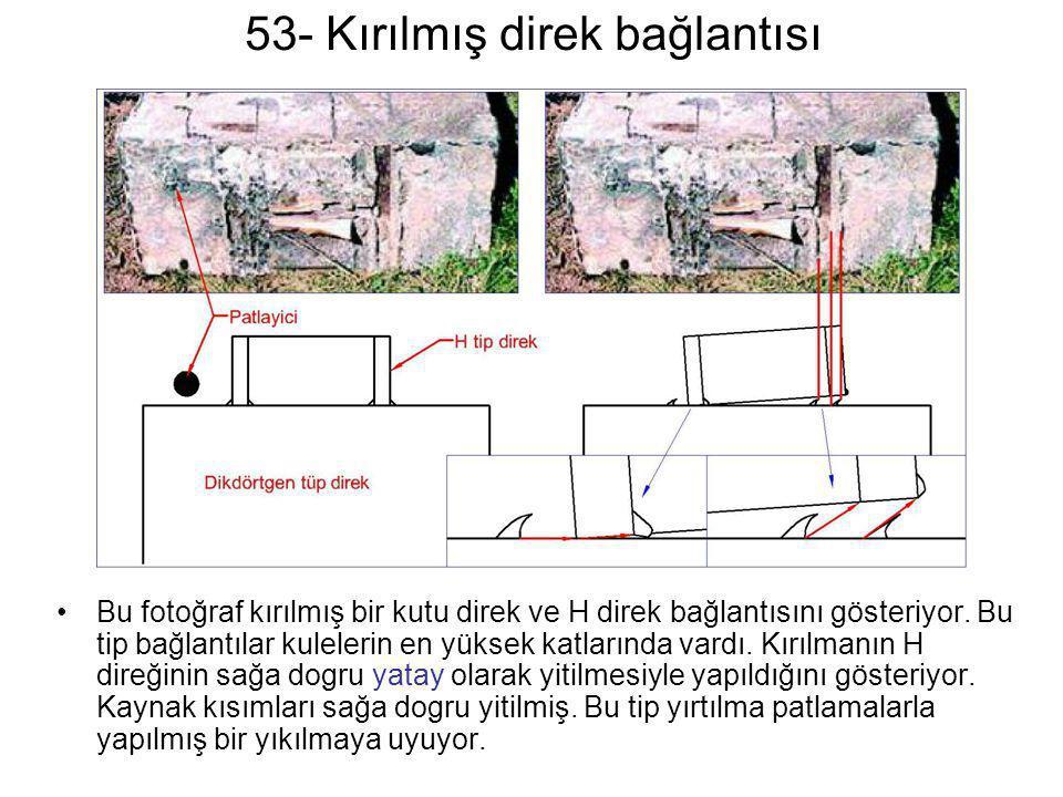 53- Kırılmış direk bağlantısı