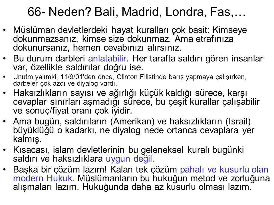 66- Neden Bali, Madrid, Londra, Fas,…