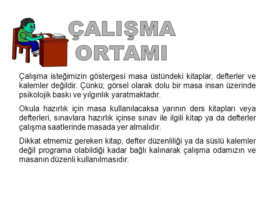 ÇALIŞMA ORTAMI.