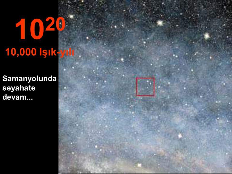 1020 10,000 Işık-yılı Samanyolunda seyahate devam...