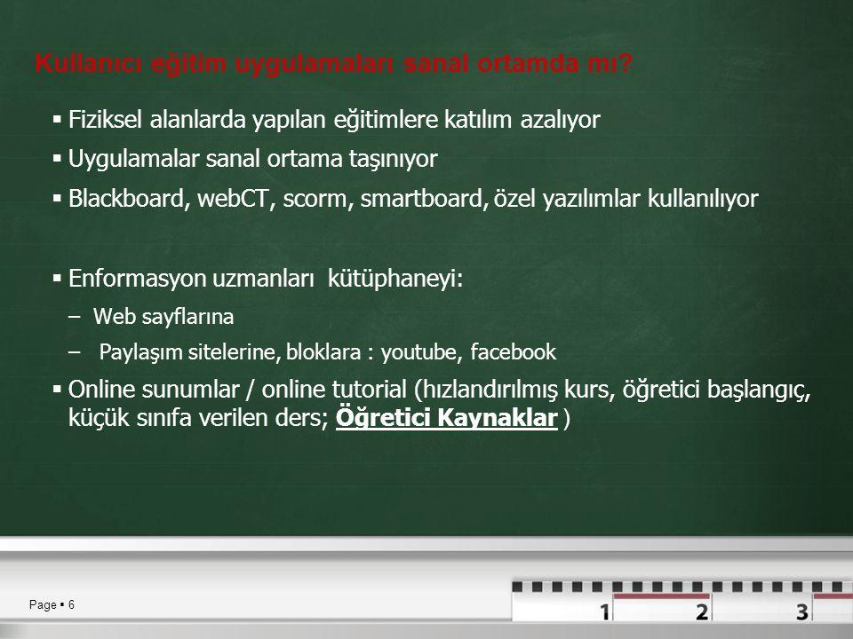 Kullanıcı eğitim uygulamaları sanal ortamda mı