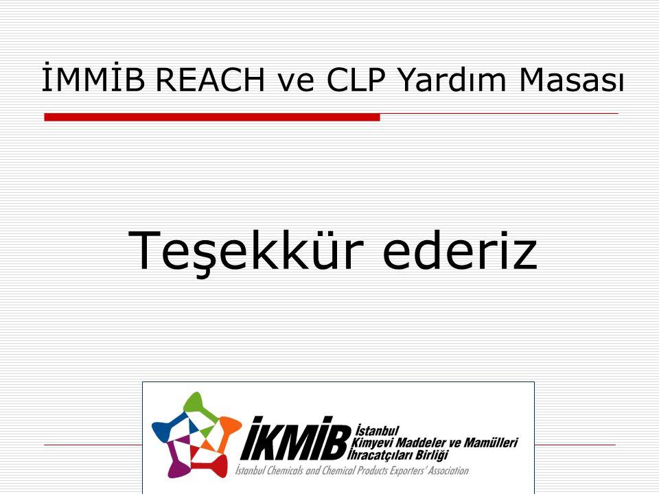 İMMİB REACH ve CLP Yardım Masası