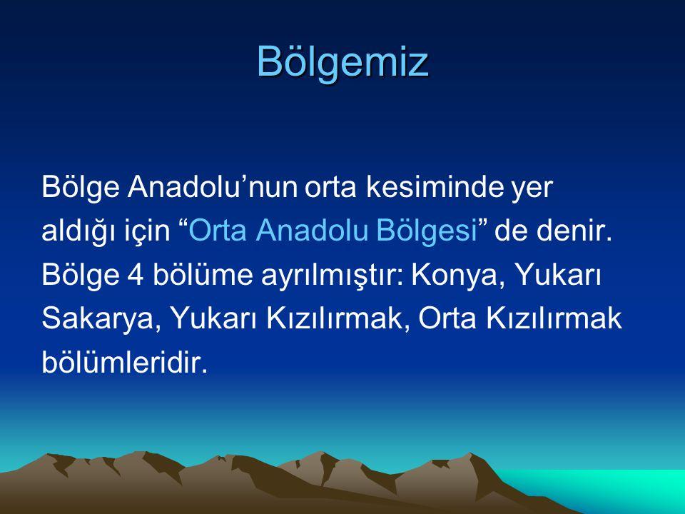 Bölgemiz Bölge Anadolu'nun orta kesiminde yer