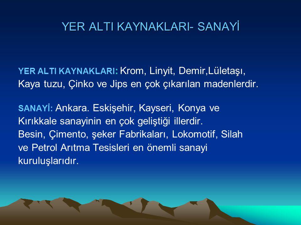 YER ALTI KAYNAKLARI- SANAYİ