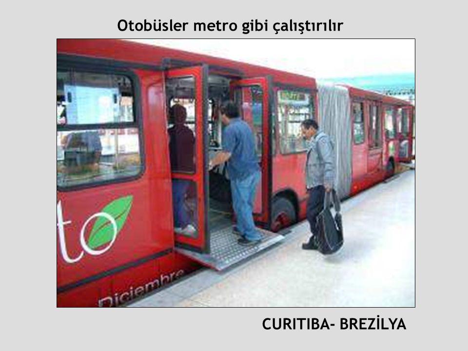 Otobüsler metro gibi çalıştırılır
