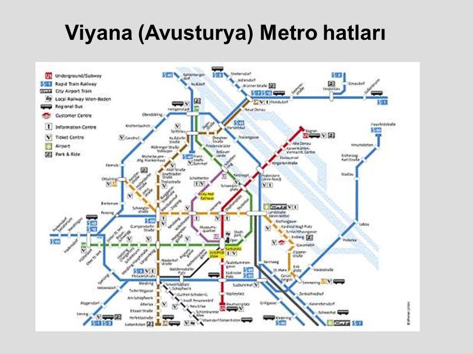 Viyana (Avusturya) Metro hatları