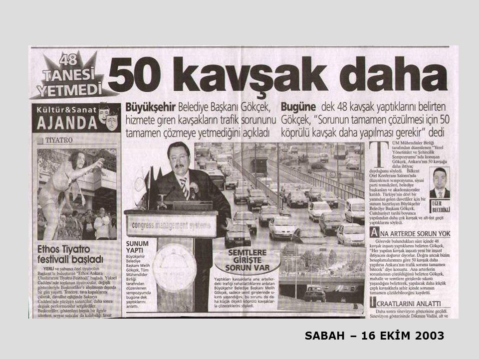 SABAH – 16 EKİM 2003