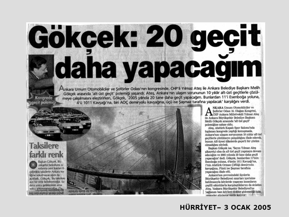 HÜRRİYET– 3 OCAK 2005
