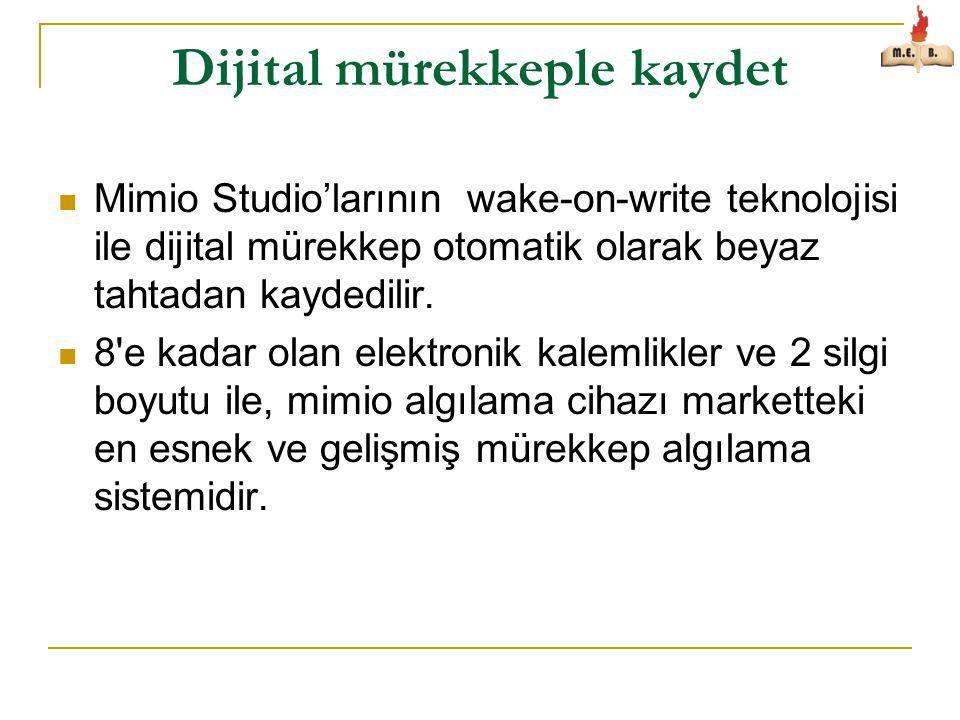 Dijital mürekkeple kaydet