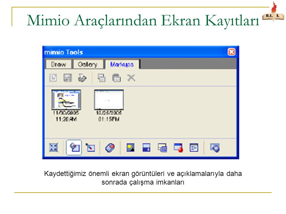Mimio Araçlarından Ekran Kayıtları