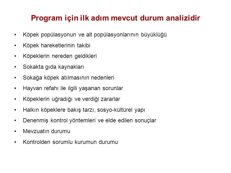 Program için ilk adım mevcut durum analizidir
